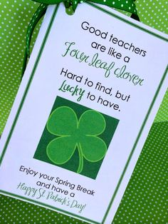 St. Patrick's Day Teacher Treats.