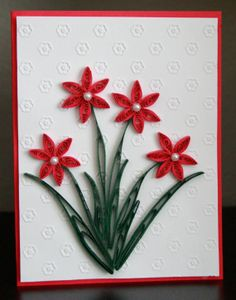Handmade quilled Mother's Day or anniversary card by QuillnMore, $4.99