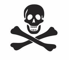Jolly Roger Decal Skulls and Crossbones Skull by ArtisticAttires