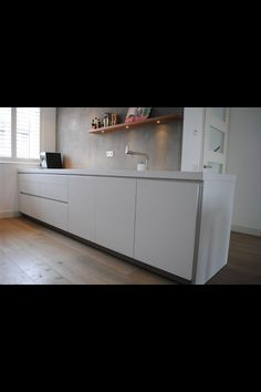 Kalkverf achterwand keuken met sealer huis pinterest toverstokken en met - Waterdicht wax beton ...