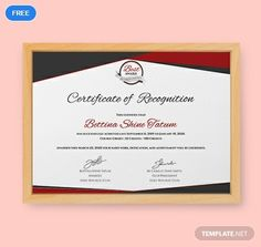 Free Certificate of Recognition Template Certificate Of Recognition Template, Certificate Of Completion Template, Certificate Design Template, Free Certificates, Microsoft Publisher, Beautiful Nature Scenes, Word Doc, Nutrition Education, Share Online