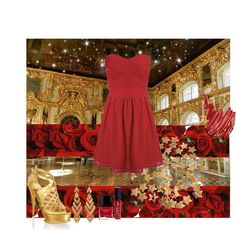 """""""Roses are red and LOVE is gold"""" by lover2lover ❤ liked on Polyvore"""