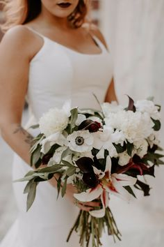 Lily Wedding, Boho Wedding, Floral Wedding, Wedding Day, Wedding Bouquets, Wedding Decor, Wedding Flowers, Anemone Bouquet, White Anemone