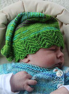 Elfbaby hat knitting pattern by Robynn Weldon - Available at LoveKnitting Baby Patterns, Knitting Patterns Free, Free Knitting, Baby Knitting, Baby Hat Knitting Pattern, Knitting For Kids, Knitting Projects, Knit Or Crochet, Crochet Baby