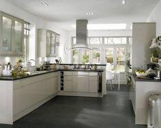 New kitchen, trying to decide on colour, this is flint grey Grey Flooring, Stone Flooring, Kitchen Flooring, Floors, Kitchen Units, Kitchen Layout, New Kitchen, Kitchen Ideas, Square Edge Worktop