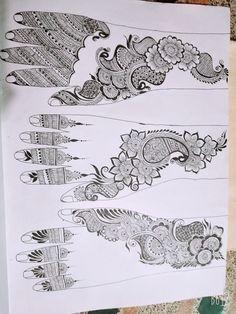 Practice Rose Mehndi Designs, Basic Mehndi Designs, Arabic Henna Designs, Mehndi Designs For Beginners, Mehndi Designs For Girls, Wedding Mehndi Designs, Latest Mehndi Designs, Unique Henna, Mehndi Design Pictures