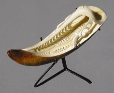Carved Whale Tooth by Rangi Kipa toi o tahuna Polynesian People, Bone Crafts, Maori Designs, Tooth Necklace, Bone Jewelry, Maori Art, Kiwiana, Carving Designs, Bone Carving