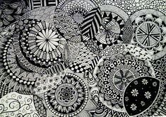 zentangle circles doodle deviantart patterns easy pattern drawings zen tangles letters cool