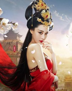 Fashion Trend Black Hair Synthetic Fast Bun Hairpiece Hair Bun Pad for Performance Show Cos black Ox horn WIG Oriental Fashion, Asian Fashion, Fatale Overwatch, Chica Fantasy, China Girl, Beautiful Asian Women, Japanese Girl, Japanese Beauty, Traditional Dresses
