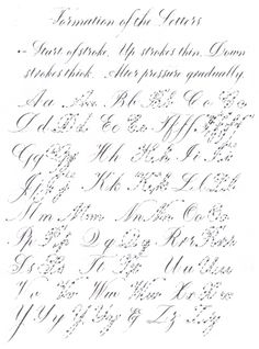 calligraphy letter formation