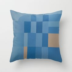 Palm Springs Blue Throw Pillow by Project M - $20.00