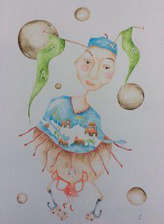 Watercolor on paper Desirée Hitenkauf