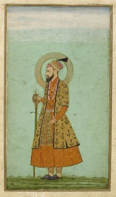 Aurangzeb Alamgir the Mughal Emperor of India Mughal Miniature Paintings, Mughal Paintings, Indian Paintings, Emperor Of India, Iron Man Wallpaper, History Of India, Mughal Empire, Katana, Rugs On Carpet
