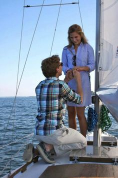 Anyone who proposes to me on a boat gets a zillion awesome points