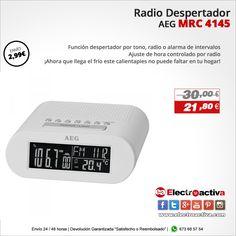 ¡Diseño y funcionalidad ,da gusto usarlo para levantarse cada mañana!  Radio despertador AEG MRC 4145 BLANCO https://www.electroactiva.com/aeg-radio-despertador-mrc-4145-blanco.html #Elmejorprecio #Despertador #Chollo #Electronica #PymesUnidas