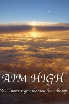 Aim high for your dreams. Inspirational & Quotes Pinterest
