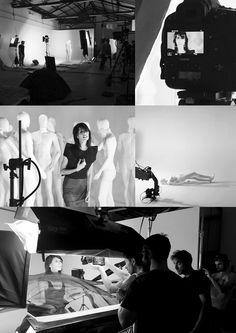 Backstage video musicale Giorgia Oronero girato presso studio fotografico limbo cyclorama e sala posa Roma Lumina Sense art lab