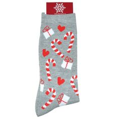My Christmas Women's Grey Candy Cane Crew Sock: Shopko