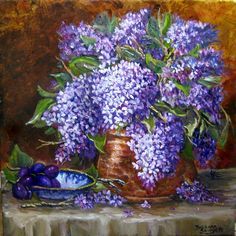 Lilacs and Copper, by Barbara Sawyer