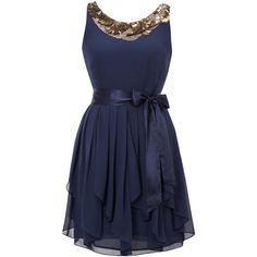 eaden embellished dress (2.215 HRK) ❤ liked on Polyvore featuring dresses, vestidos, short dresses, blue dresses, women, blue mini dress, short silk dress, blue dress, blue silk dress and metallic blue dress