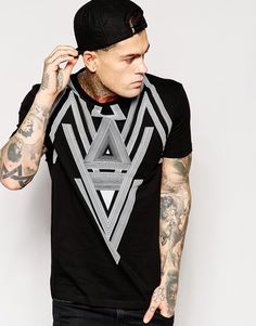 ASOS T-Shirt With Triangle Print And Relaxed Skater Fit - that should be mine!