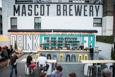 Mascot Brewery and Beer Garden occupies the rooftop above Odd Thomas on Mercer St. and you should go. #Toronto #Food @chowhoundgta