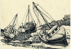 Dibujos de Sylvia Plath en Benidorm