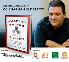 The Amazing Things Will Happen book tour is coming to Michigan. Register at http://ccchapmandetroit.eventbrite.com/