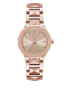 Karl Lagerfeld Rose Goldtone Stainless Steel Bracelet Watch Women's Ro