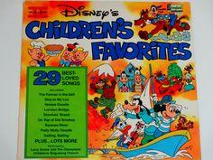 "Disney's Children's Favorites Volume II - 29 Best Loved Songs - ""Yankee Doodle"" - Disneyland Records 1979 - Vintage Vinyl LP Record Album by notesfromtheattic on Etsy"