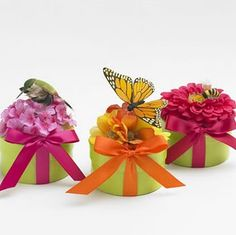 These pretty wedding favors are filled with #flower #seeds