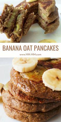 Banana Pancakes For Baby, Oatmeal Pancakes Easy, Pancakes With Oats, Pancakes For Babies, Healthy Banana Pancakes, Health Pancakes, Flourless Banana Pancakes, Oatmeal Protein Pancakes, Pancakes For One