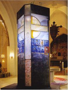 Bertil Vallien retable de la cathédrale de Wäxjö au sud de la Suède en 2002