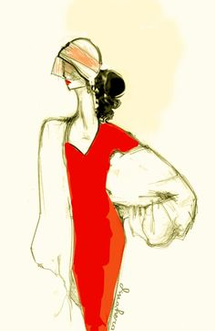 Lady in Red by Farah Dina Hera #fashion #design