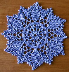 Ravelry: Doily # 8 pattern by Patricia Kristoffersen Crochet Circles, Crochet Doily Patterns, Thread Crochet, Filet Crochet, Crochet Motif, Crochet Designs, Crochet Doilies, Crochet Yarn, Knitting Patterns