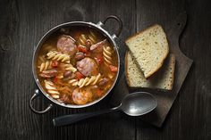 Turri's Rotini & Sausage Soup. #Rotini #Soup #WholeGrain #Sausage #Entree