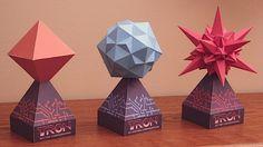 "Papercraft Tron ""Bit"" models @Craftzine.com blog"