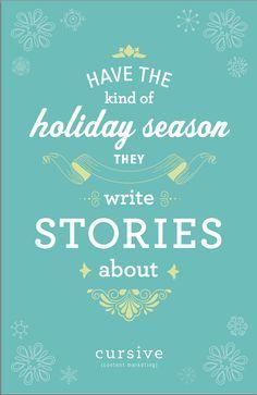 Happy Holidays from Cursive Content Marketing! www.cursivecontent.com