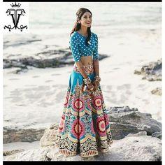 Bollywood Replica - Designer Blue Banglori Silk Lehenga Choli - VT-1002