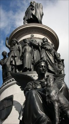 "Detail of The memorial to the ""Liberator"" Daniel O'Connell , the 19th-century nationalist by sculptor John Henry Foley. This is sited on the main street of Dublin(o Connell Street, also named after the great man!)"