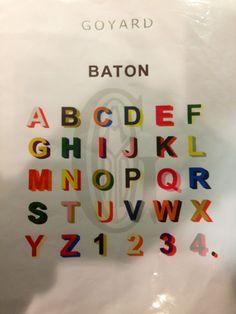 Goyard monogram alphabet/colors
