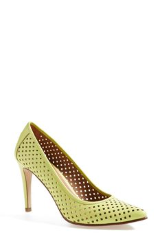 These perforated pointy toe pumps will look gorgeous with a crop and pencil skirt.