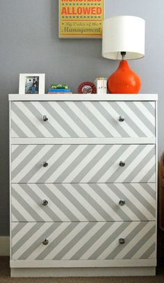 chevron dresser in boys bedroom_Suburban Bitches