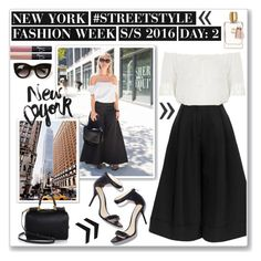 """""""NYFW: STREET STYLE"""" by julijana-fox ❤ liked on Polyvore featuring J.W. Anderson, Topshop, Dolce&Gabbana, Thierry Lasry and NARS Cosmetics"""