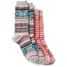 NWT Gap Kids girl 2pk of socks; navy w//flowers /& navy w//multi-color stripes; S