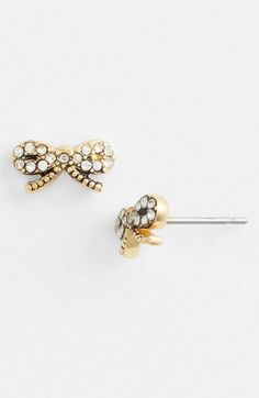 ariella collection pave bow earrings
