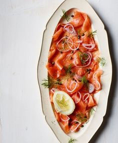 smoked salmon platter from Booths Christmas book 2014 by smithandvillage.com