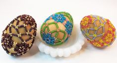 Beaded Easter Egg Pattern Beading Tutorial in PDF by zaneymay, $8.00    #MMMeas13