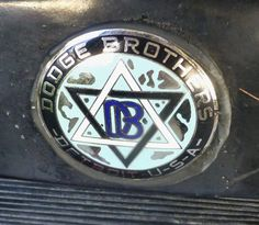 Radiator badge on a 1915 Dodge.  Photography by David E. Nelson