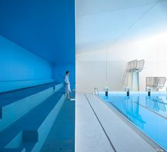 Image 43 of 43 from gallery of Swimming Pool Extension in Bagneux / Dominique Coulon & associés. Image Courtesy of Dominique Coulon Architecture Indoor Pools, Architecture Details, Interior Architecture, Paris Suburbs, Swimming Pool Pictures, Dominique, Interior Design Magazine, Pool Designs, Outdoor